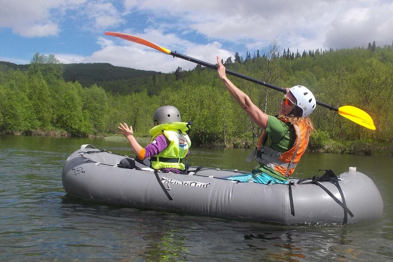 Pack-rafting with children i Raudøla - 2,5 t