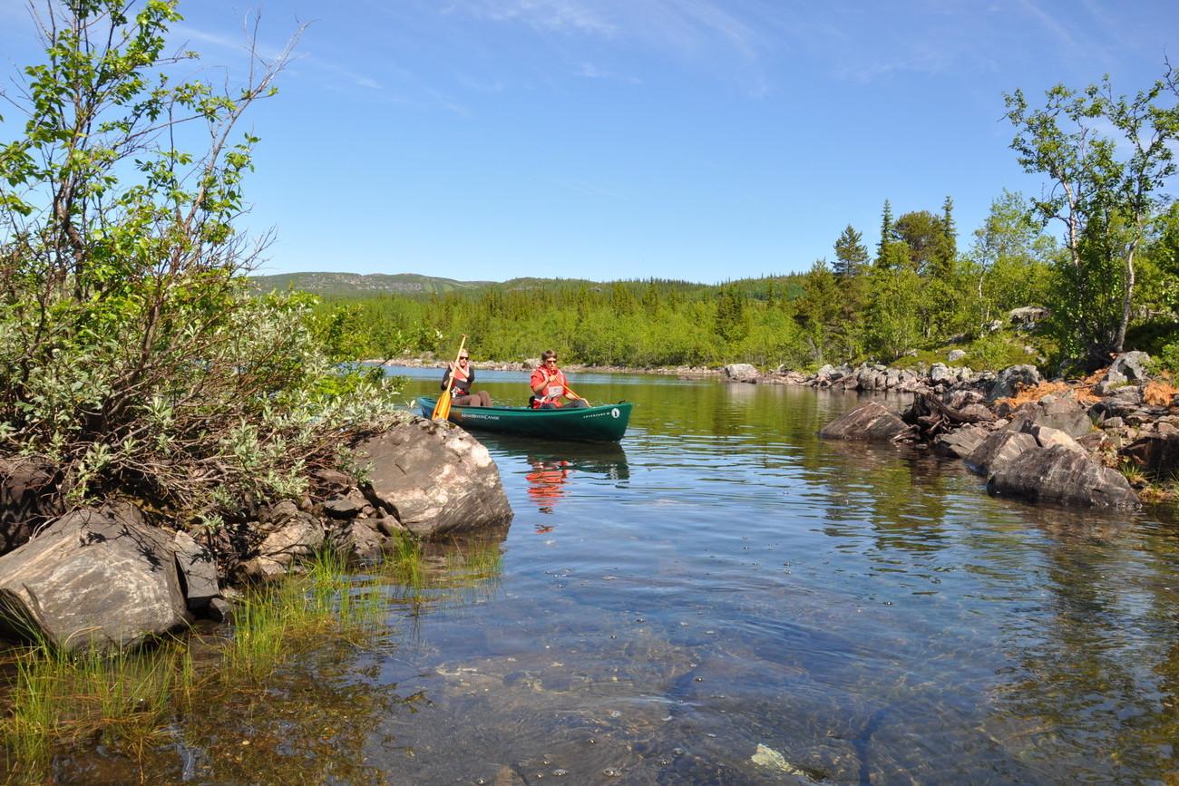Canoe tour Lake Øyangen, Beitostølen Norway | Beito Husky Tours
