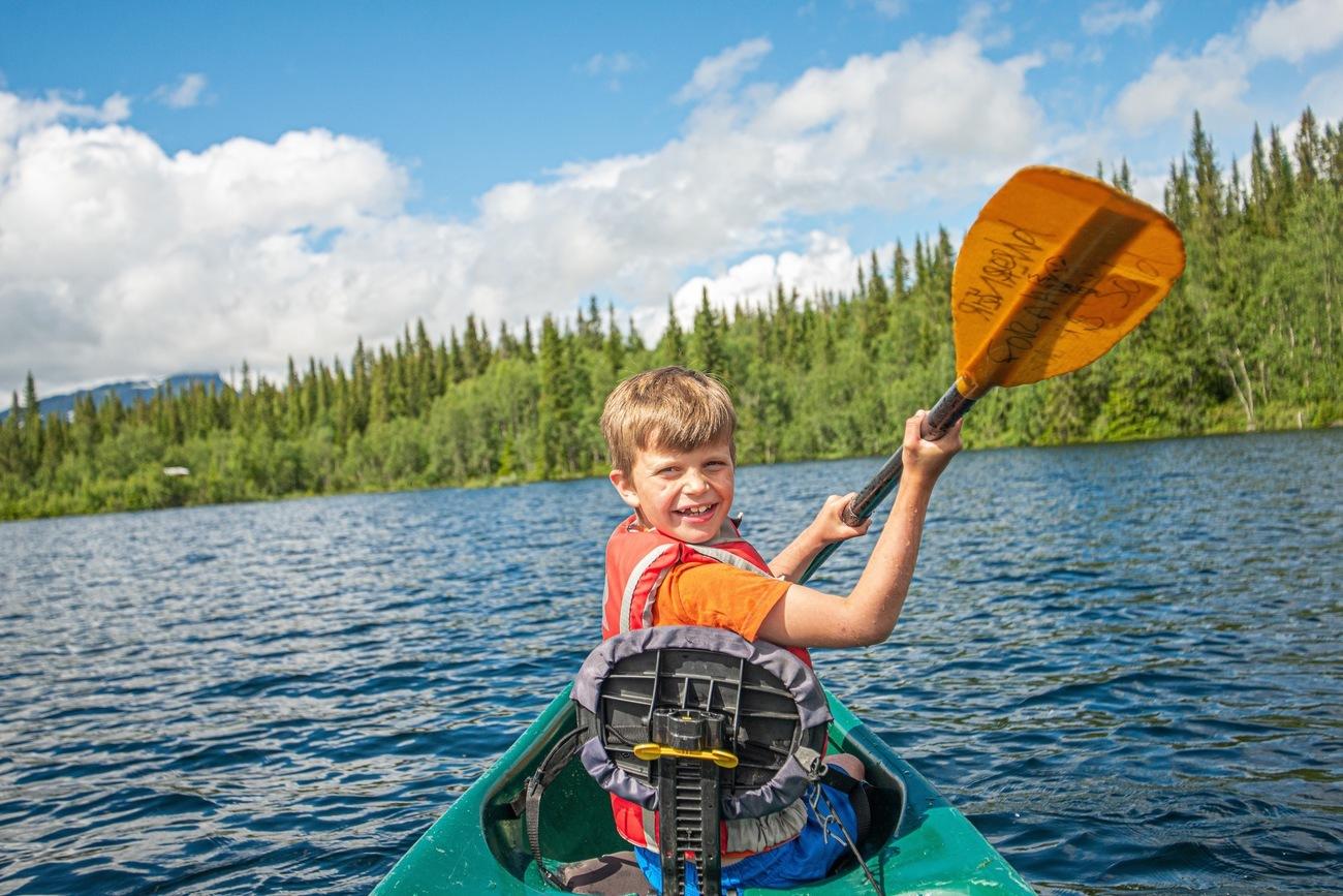 Guidet familie kanotur og padlekurs på Beitostølen / Beito Husky Tours